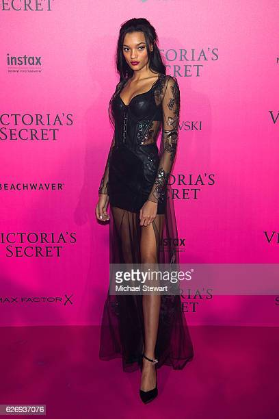 Model Lameka Fox attends the 2016 Victoria's Secret Fashion Show after party at Le Grand Palais on November 30 2016 in Paris France