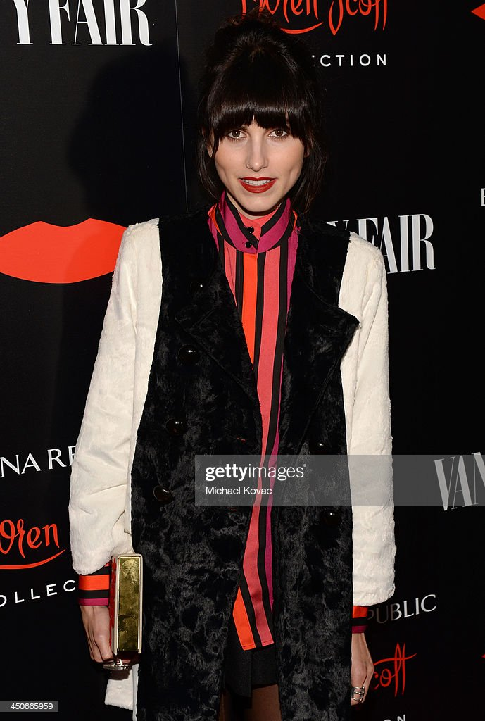 Model Langley Fox attends the launch celebration of the Banana Republic L'Wren Scott Collection hosted by Banana Republic, L'Wren Scott and Krista Smith at Chateau Marmont on November 19, 2013 in Los Angeles, California.