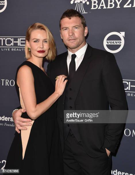 Model Lara Bingle and actor Sam Worthington attend the 2017 Baby2Baby Gala at 3LABS on November 11 2017 in Culver City California
