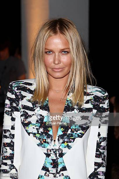 Model Lara Bingle attends the front row of the Ksubi collection show closing the fifth and final day of Rosemount Australian Fashion Week...
