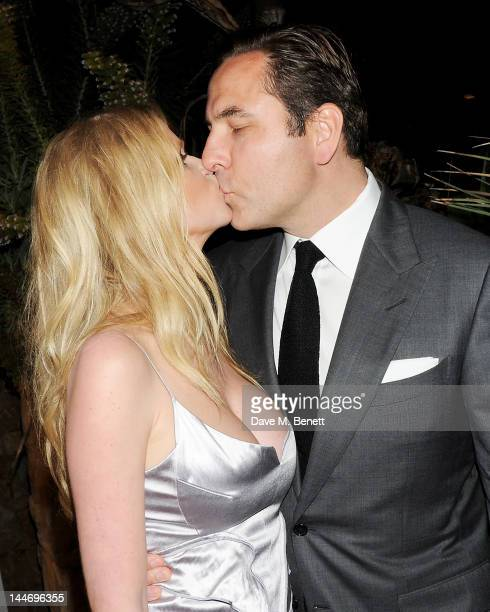 Model Lara Stone and David Walliams attend as The IFP Calvin Klein Collection euphoria Calvin Klein celebrate Women In Film during the 65th Cannes...