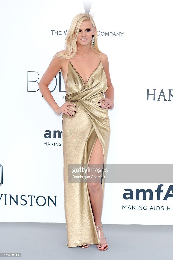 Model Lara Stone attends amfAR's 22nd Cinema Against AIDS Gala Presented By Bold Films And Harry Winston at Hotel du CapEdenRoc on May 21 2015 in Cap...