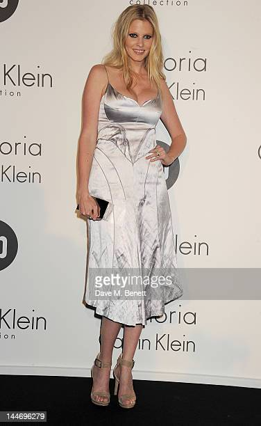Model Lara Stone attends as The IFP Calvin Klein Collection euphoria Calvin Klein celebrate Women In Film during the 65th Cannes Film Festival at...