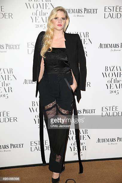 Model Lara Stone attends Harper's Bazaar Women of the Year Awards at Claridge's Hotel on November 3 2015 in London England