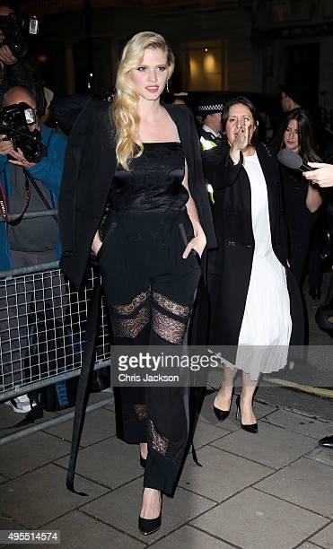 Model Lara Stone attends Harper's Bazaar Women of the Year Awards at Claridge's Hotel on November 3 2015 in London England