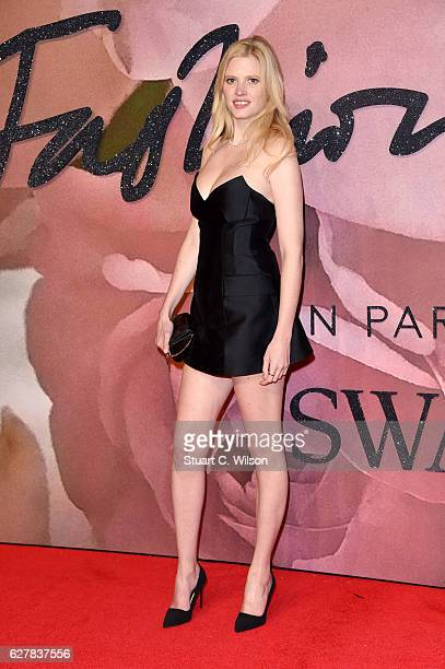 Model Lara Stone attends The Fashion Awards 2016 on December 5 2016 in London United Kingdom