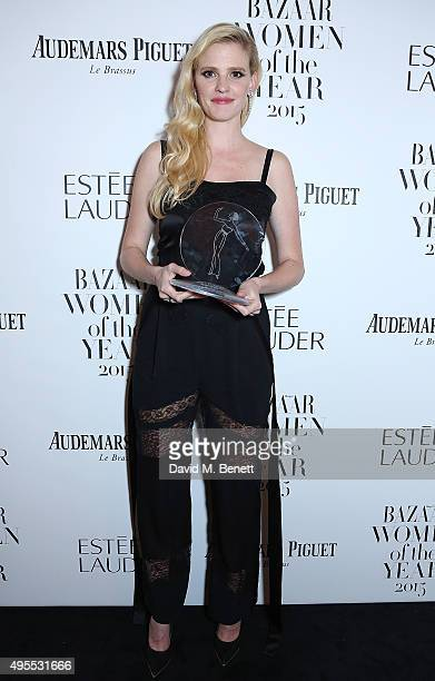 Model Lara Stone attends the Harper's Bazaar Women of the Year Awards 2015 at Claridges Hotel on November 3 2015 in London England