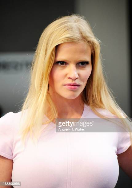Model Lara Stone is seen around Lincoln Center during Fall 2012 MercedesBenz Fashion Week on February 13 2012 in New York City