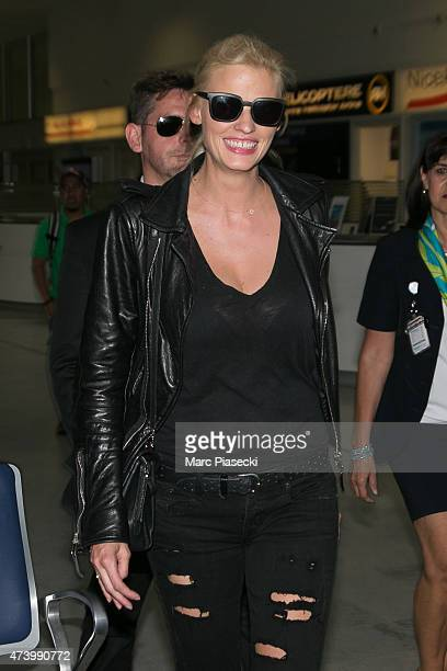 Model Lara Stone is seen at Nice airport during the 68th annual Cannes Film Festival on May 19 2015 in Cannes France