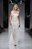 Model Lara Stone walks the runway during the Versace Spring Summer 2016 show as part of Paris Fashion Week on January 24 2016 in Paris France