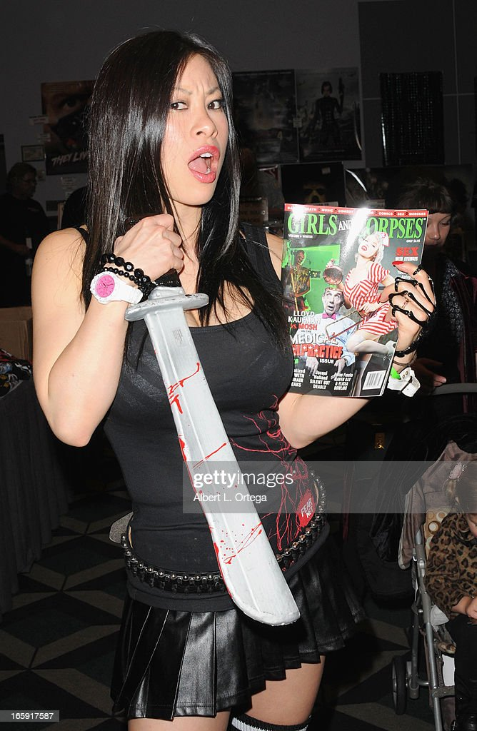 Model Larissa Lotus attends Los Angeles' Days Of The Dead Convention Day One held at Los Angeles Convention Center on April 6, 2013 in Los Angeles, California.