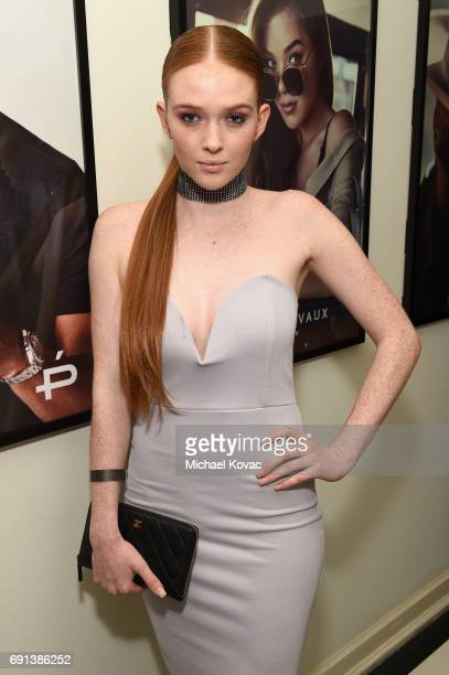 Model Larsen Thompson attends the Prive Eyewear Launch Party at Chateau Marmont on June 1 2017 in Los Angeles California