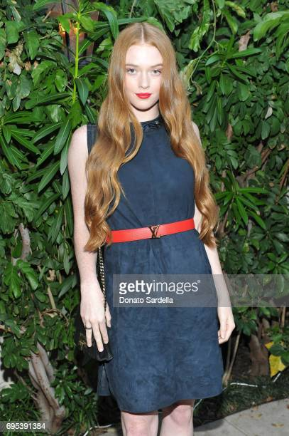 Model Larsen Thompson wearing Max Mara at Max Mara Celebrates Zoey Deutch The 2017 Women In Film Max Mara Face of the Future at Chateau Marmont on...