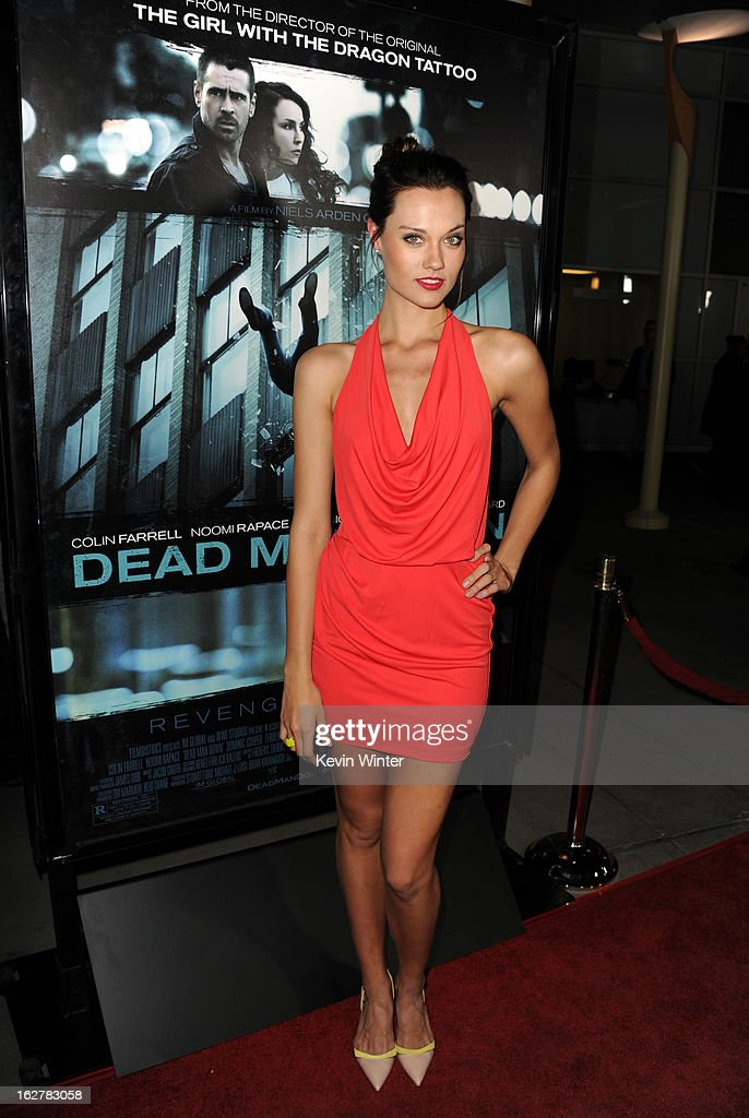 Model Laura James arrives to the premiere of FilmDistricts's 'Dead Man Down' at ArcLight Hollywood on February 26, 2013 in Hollywood, California.