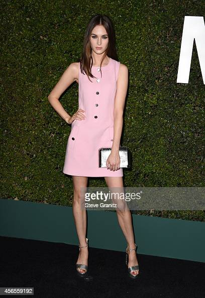 Model Laura Love attends Claiborne Swanson Frank's Young Hollywood book launch hosted by Michael Kors at Private Residence on October 2 2014 in...