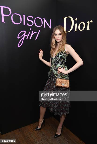 Model Laura Love attends NY Poison Club hosted by Dior with Camille Rowe on January 31 2017 in New York City