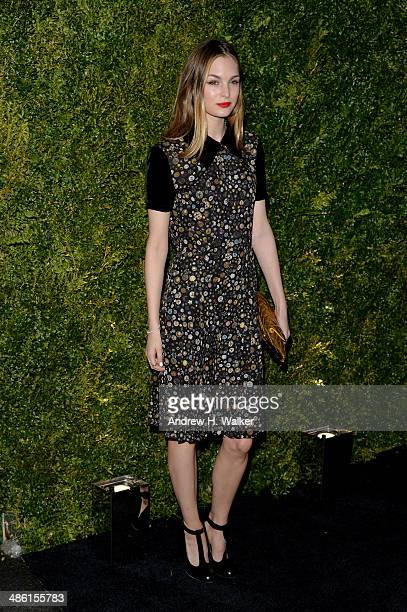 Model Laura Love attends the Chanel Tribeca Film Festival Artist Dinner during the 2014 Tribeca Film Festival at Balthazar on April 22 2014 in New...