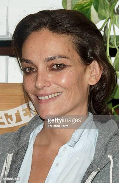 Model Laura Ponte attends 'El Viajero' re Opening party photocall at El Viajero bar in Madrid on September 23 2014 in Madrid Spain