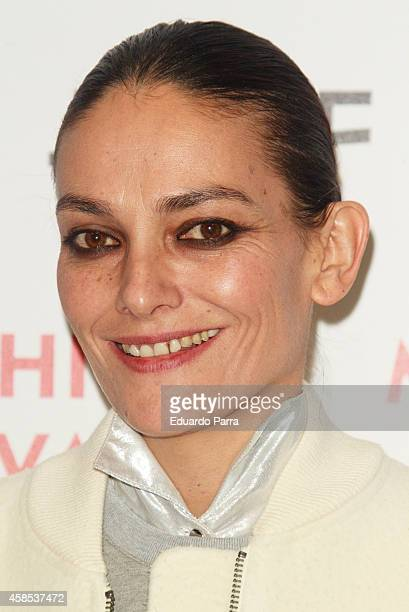 Model Laura Ponte attends Madrid Fashion Festival photocall at Centrocentro on November 6 2014 in Madrid Spain