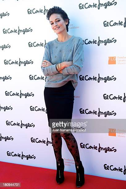 Model Laura Ponte attends the presentation of the new campaign of El Corte Ingles 'Llega Tu Otono' at Musea Lazaro Galdiano on September 17 2013 in...