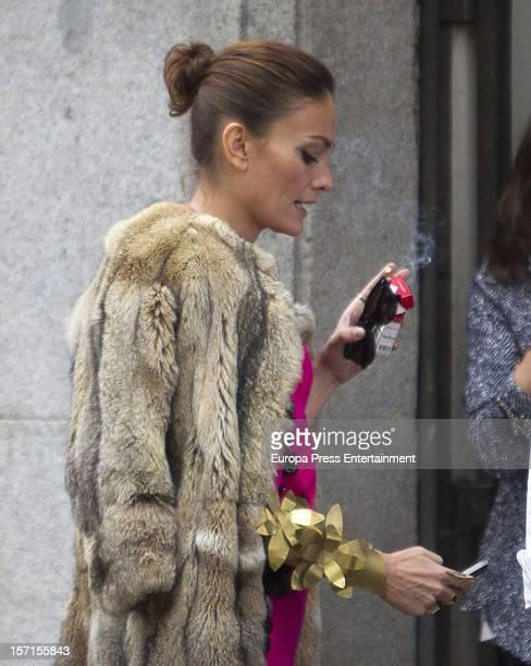 Model Laura Ponte is seen on November 28 2012 in Madrid Spain