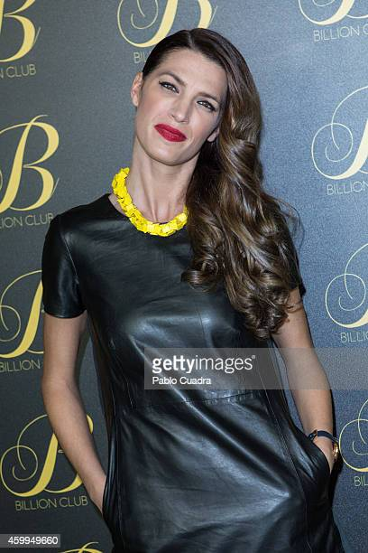 Model Laura Sanchez attends 'Billion Club' opening party on December 4 2014 in Madrid Spain