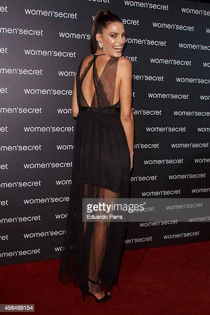 Model Laura Sanchez attends 'Dark Seduction' fashion film premiere photocall at Callao City Lights on November 5 2014 in Madrid Spain