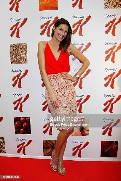 Model Laura Sanchez attends Special K Project campaign on March 10 2015 in Madrid Spain