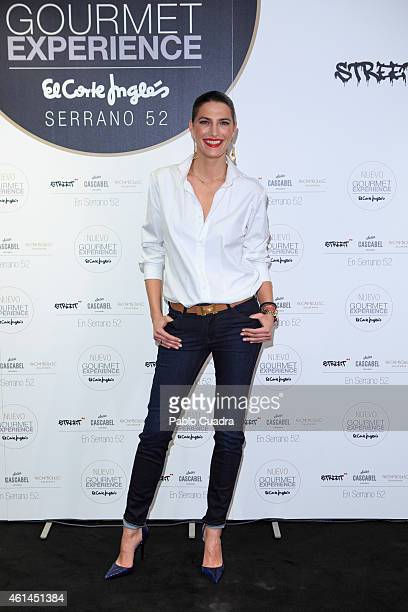 Model Laura Sanchez attends the 'New Gourmet Experience' opening party at 'El Corte Ingles' store on January 12 2015 in Madrid Spain