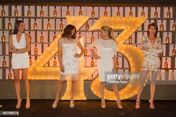 Model Laura Sanchez Jose Toledo model Judit Masco and Model Nieves Alvarez attend Licor 43 new bottle presentation at Cristal Tower on January 29...
