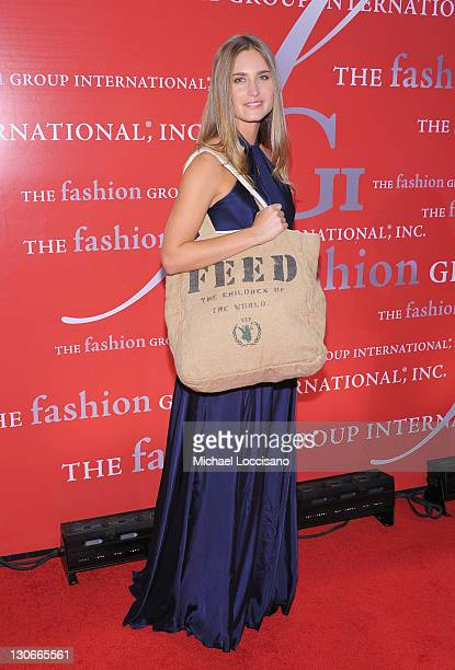 Model Lauren Bush attends the Fashion Group International's 28th annual Night of Stars at Cipriani Wall Street on October 27 2011 in New York City