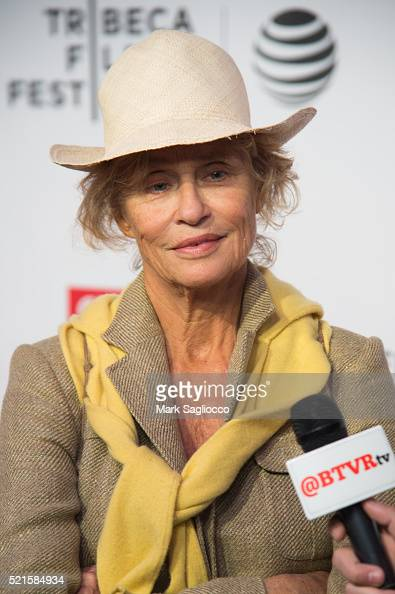Model Lauren Hutton attends the Tribeca Talks After the Movie 'Jeremiah Tower The Last Magnificent' 2016 Tribeca Film Festival at John Zuccotti...