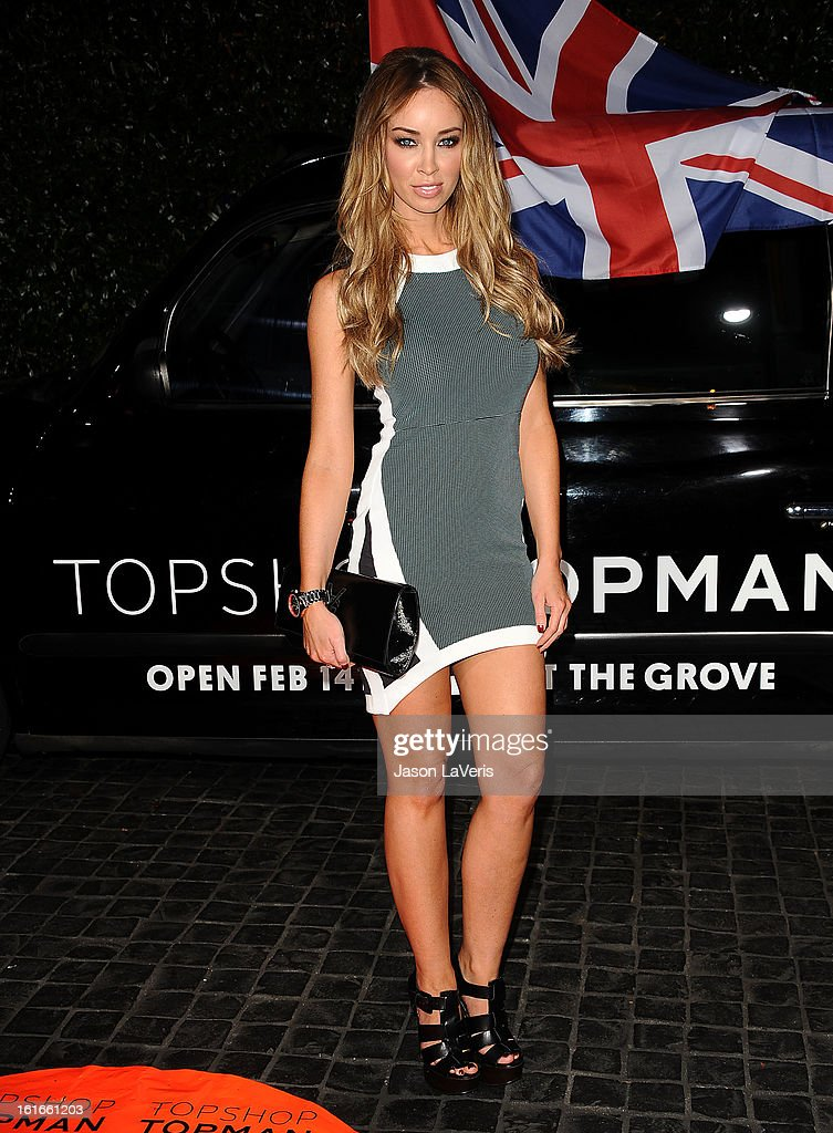 Model <a gi-track='captionPersonalityLinkClicked' href=/galleries/search?phrase=Lauren+Pope&family=editorial&specificpeople=217525 ng-click='$event.stopPropagation()'>Lauren Pope</a> attends the Topshop Topman LA flagship store opening party at Cecconi's Restaurant on February 13, 2013 in Los Angeles, California.