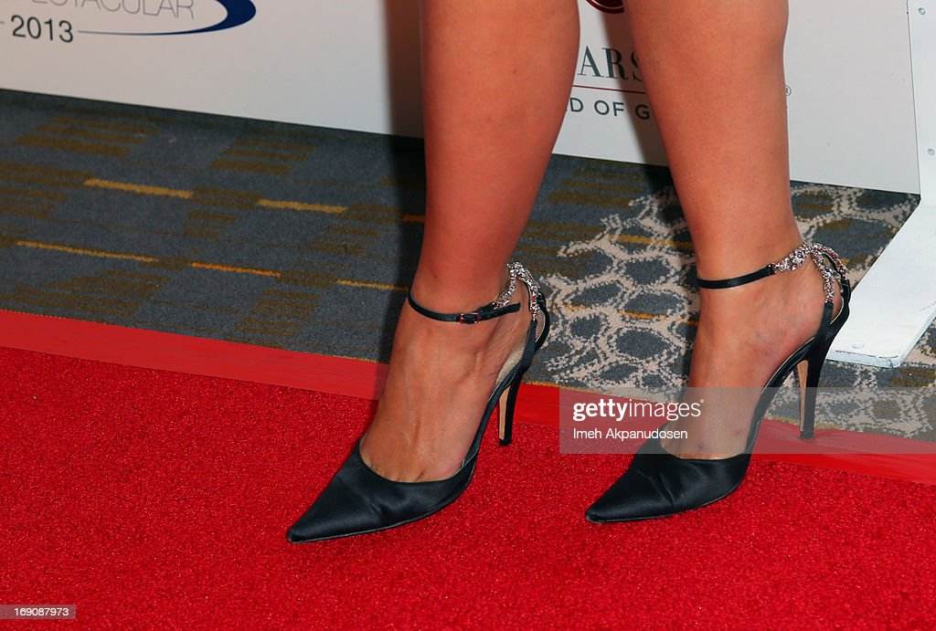 Model Leeann Tweeden (shoe detail) attends the 28th Anniversary Sports Spectacular Gala at the Hyatt Regency Century Plaza on May 19, 2013 in Century City, California.