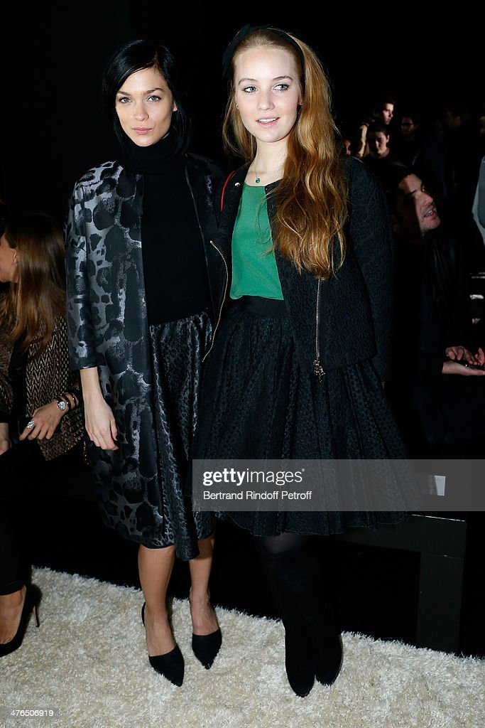 Model Leigh Lezark and blogger Petra Palumbo attend the Giambattista Valli show as part of the Paris Fashion Week Womenswear Fall/Winter 2014-2015 on March 3, 2014 in Paris, France.