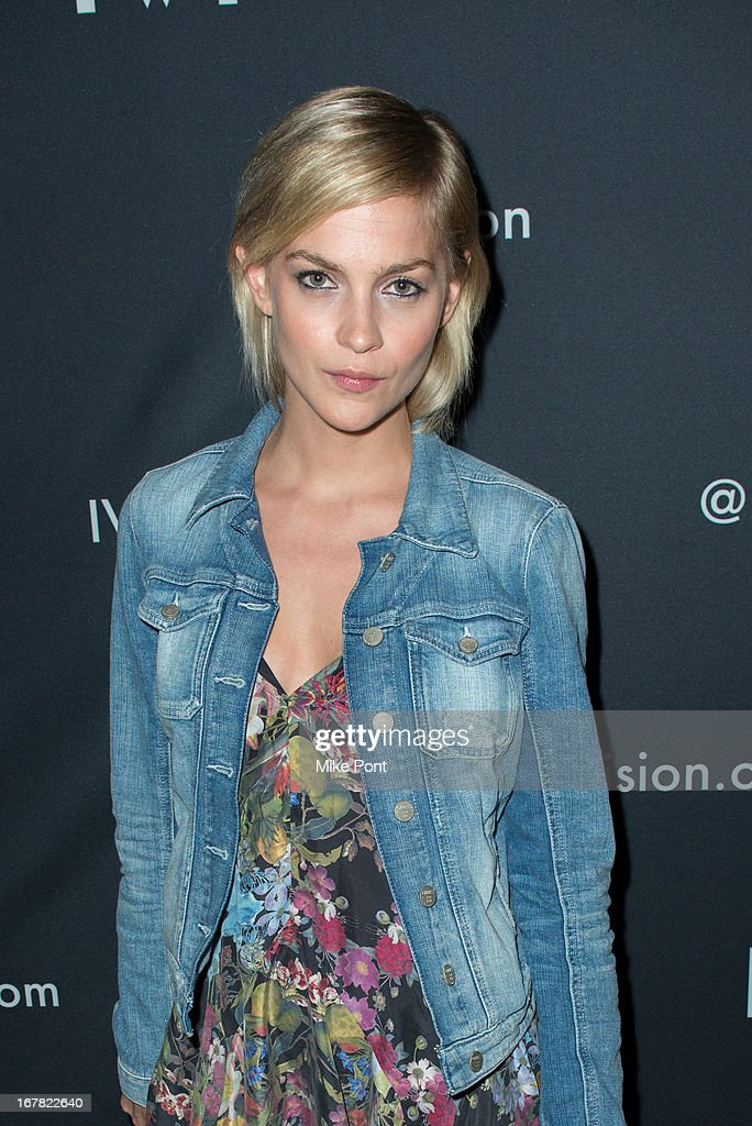 Model Leigh Lezark attends the IVI Launch Party at The Bowery Hotel on April 30, 2013 in New York City.