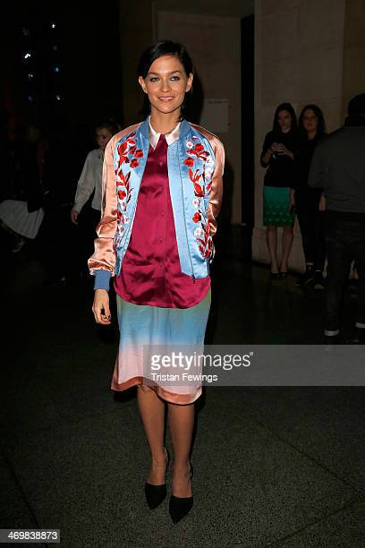 Model Leigh Lezark attends the Jonathan Saunders show at London Fashion Week AW14 at Tate Brtian on February 16 2014 in London England