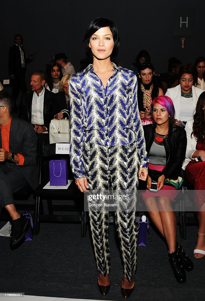 Model Leigh Lezark attends the Noon By Noor show during Spring 2014 Mercedes-Benz Fashion Week at The Studio at Lincoln Center on September 6, 2013 in New York City.