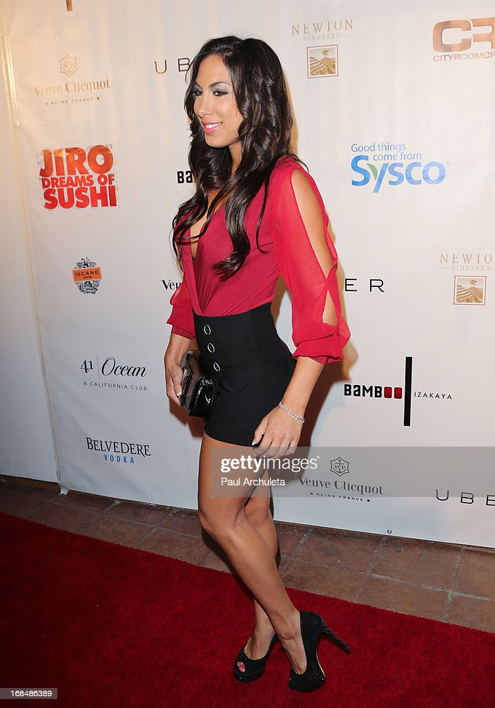 Model Leila Knight attends the Grand Opening of Bamboo Izakaya Restaurant at the Bamboo Izakaya Restaurant on May 9, 2013 in Santa Monica, California.