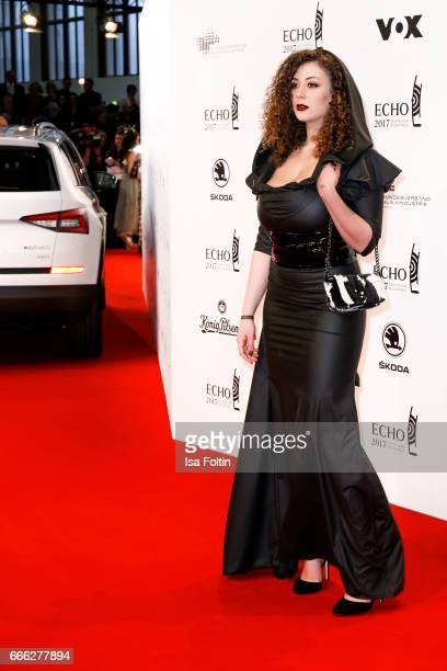 Model Leila Lowfire during the Echo award red carpet on April 6 2017 in Berlin Germany