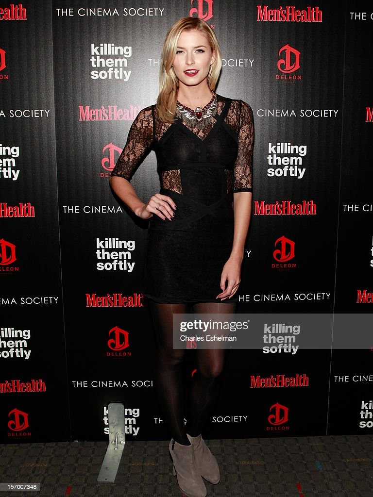 Model Lena Gercke attends a screening of The Weinstein Company's 'Killing Them Softly' hosted by The Cinema Society with Men's Health and DeLeon at SVA Theatre on November 26, 2012 in New York City.