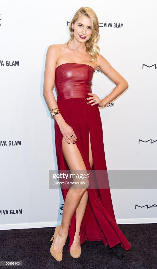 Model Lena Gercke attends amfAR New York Gala To Kick Off Fall 2013 Fashion Week at Cipriani, Wall Street on February 6, 2013 in New York City.