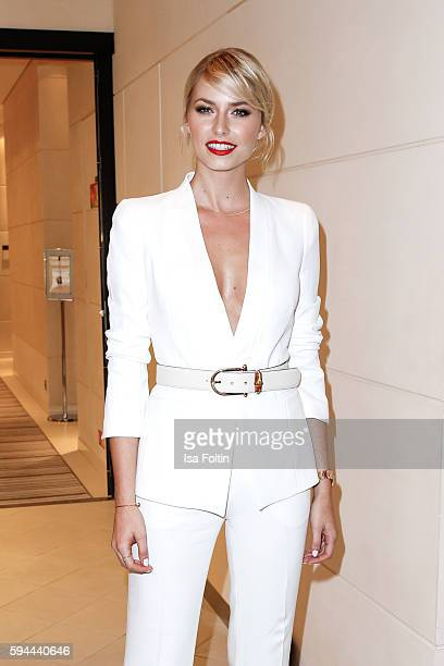 Model Lena Gercke attends the Fashion2Night event at EUROPA 2 on August 23 2016 in Hamburg Germany