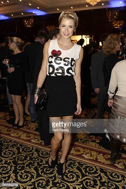 Model Lena Gercke attends the Movie Meets Media at Ritz Carlton Curtain Club on February 12 2010 in Berlin Germany