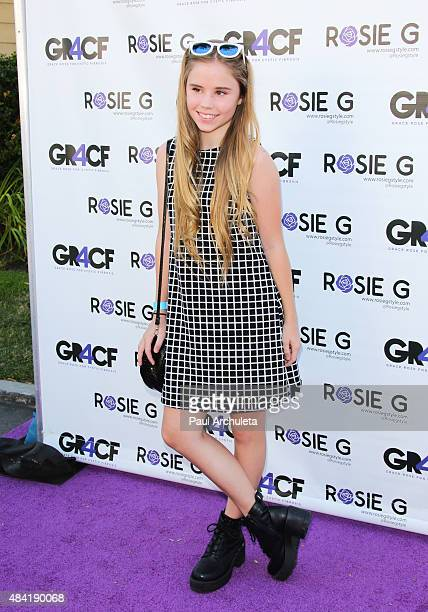 Model Lexee Smith attends the children's fashion show in supporting of Cystic Fibrosis research at CBS Studios Radford on August 15 2015 in Studio...