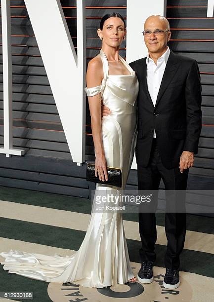 Model Liberty Ross and entrepreneur Jimmy Iovine attend the 2016 Vanity Fair Oscar Party hosted By Graydon Carter at Wallis Annenberg Center for the...