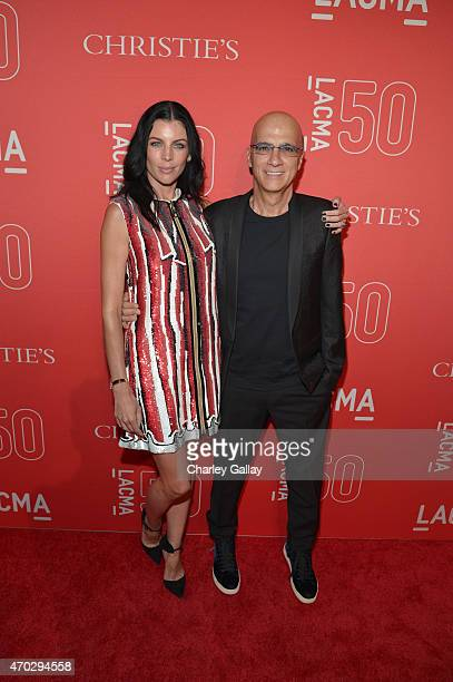 Model Liberty Ross and music executive Jimmy Iovine attend the LACMA 50th Anniversary Gala sponsored by Christie's at LACMA on April 18 2015 in Los...