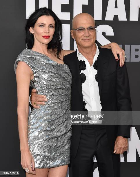 Model Liberty Ross and producer Jimmy Iovine arrive at the premiere of 'The Defiant Ones' at Paramount Theatre on June 22 2017 in Hollywood California