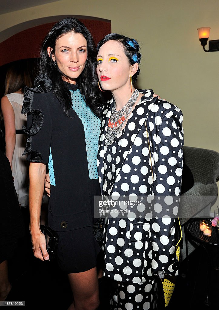 Model Liberty Ross and stylis B. Akerlund attend A private dinner In honor of Fausto Puglisi of Emanuel Ungaro hosted by Barneys New York at Chateau Marmont on May 1, 2014 in Los Angeles, California.
