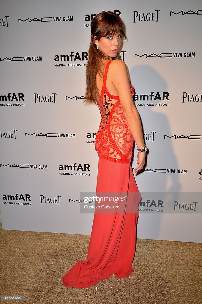 Model Liliana Matthäus attends the amfAR Inspiration Miami Beach Party at Soho Beach House on December 6, 2012 in Miami Beach, Florida.